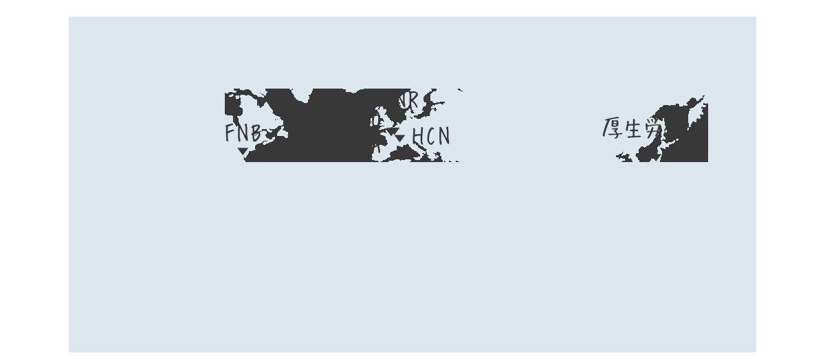 世界中の保健機関